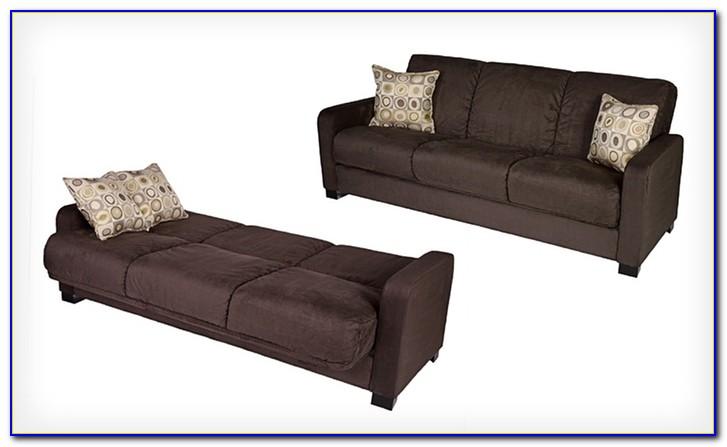 Handy Living Convert A Couch Microfiber Sleeper Sofa In Khaki
