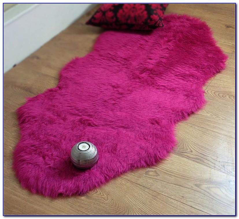 Hot Pink Sheepskin Rug