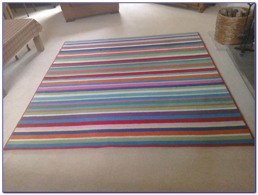 Ikea Green Striped Rug