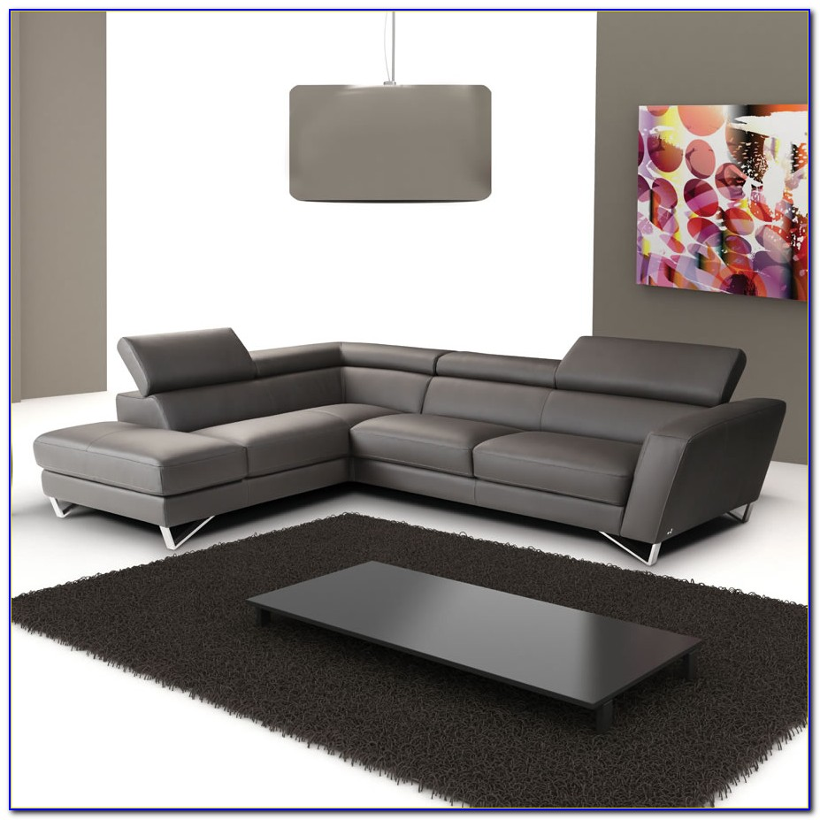 Italian Leather Sectional Sofa Chaise