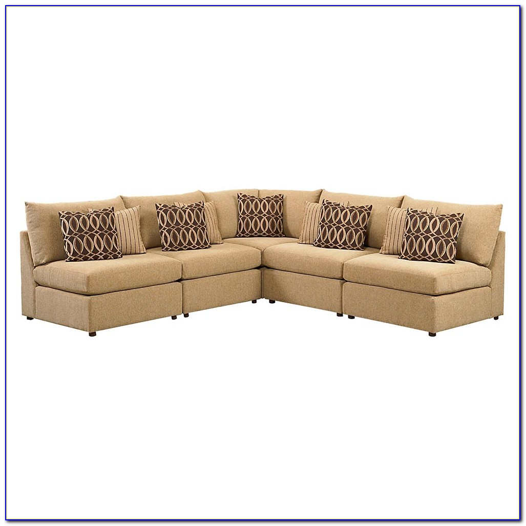 L Shaped Sectional Sofa In Chocolate Corduroy With Reversible Chaise