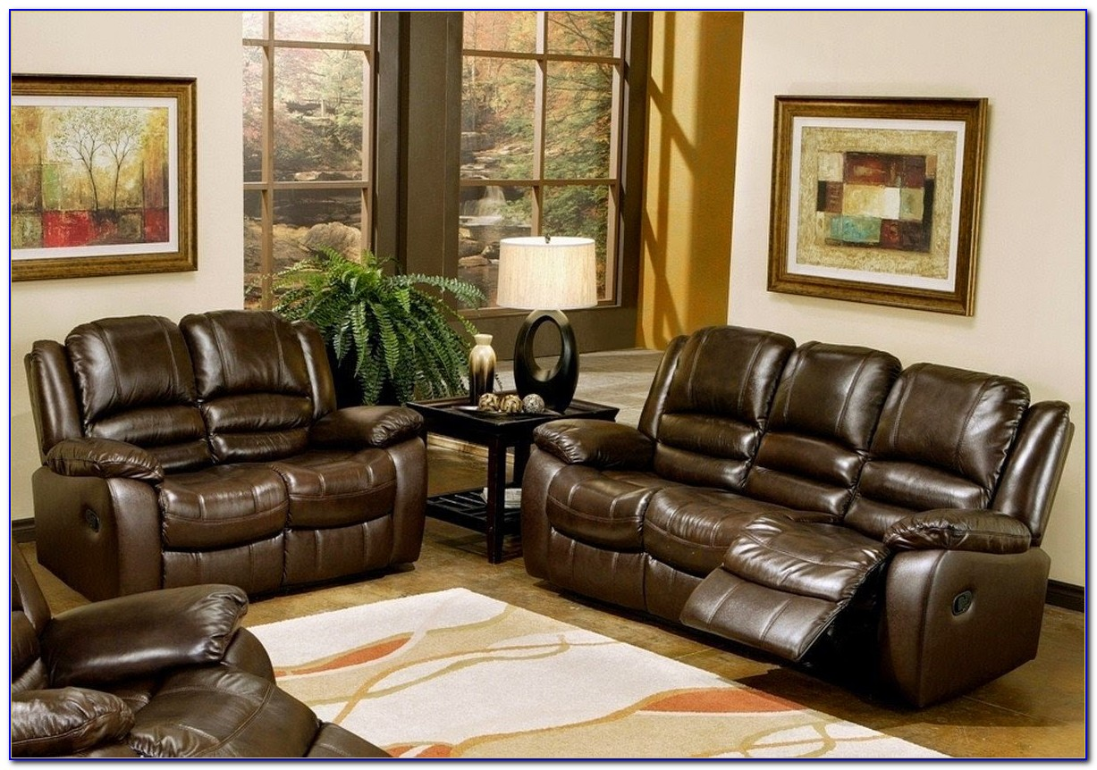Lane Leather Reclining Sofa And Loveseat