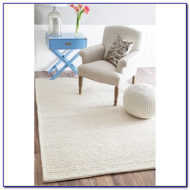 Large Chunky Braided Wool Rugs