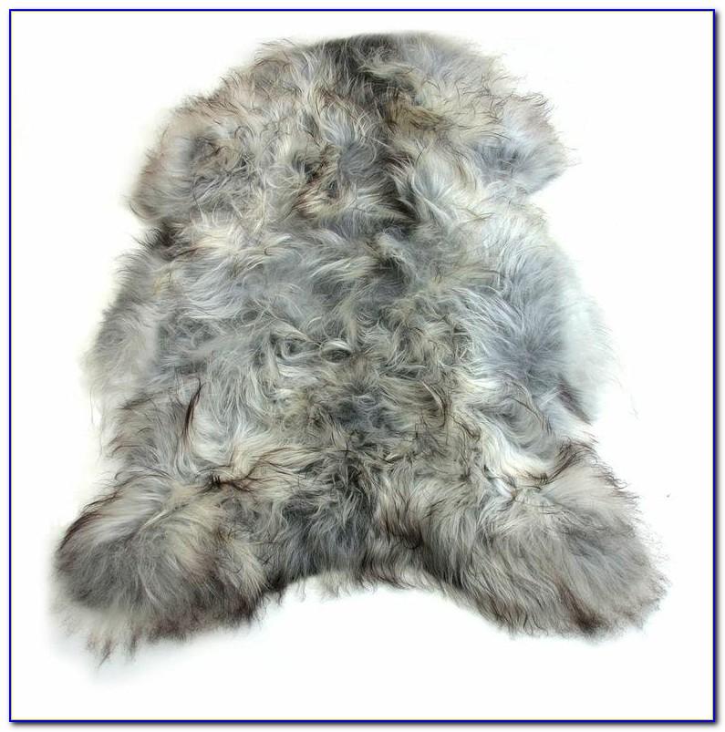 Large Faux Sheepskin Rug White