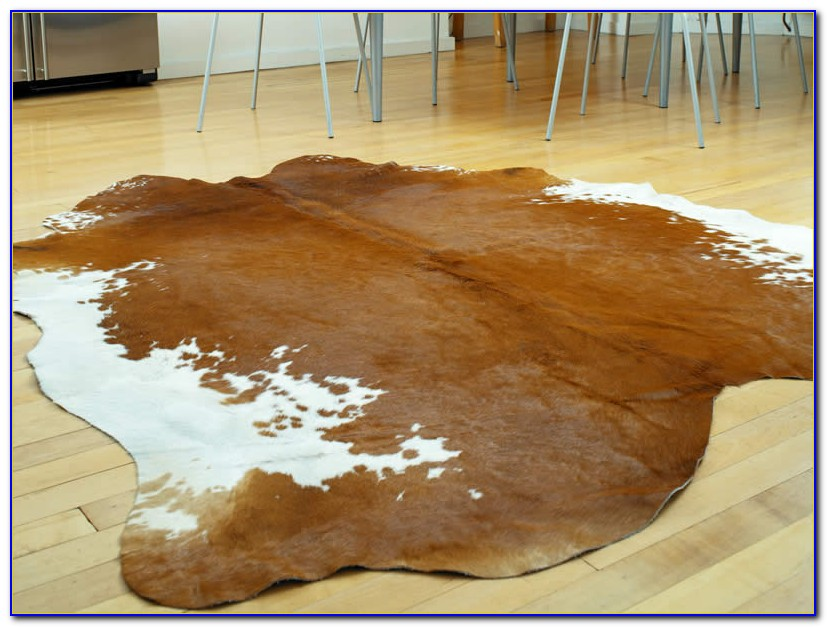 Large Metallic Cowhide Rug