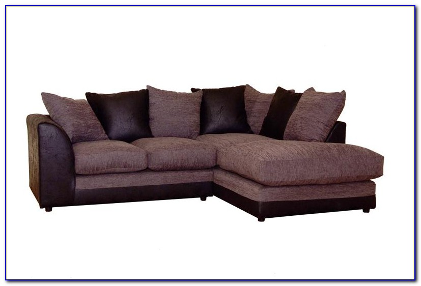 Leather And Fabric Sofa Bed