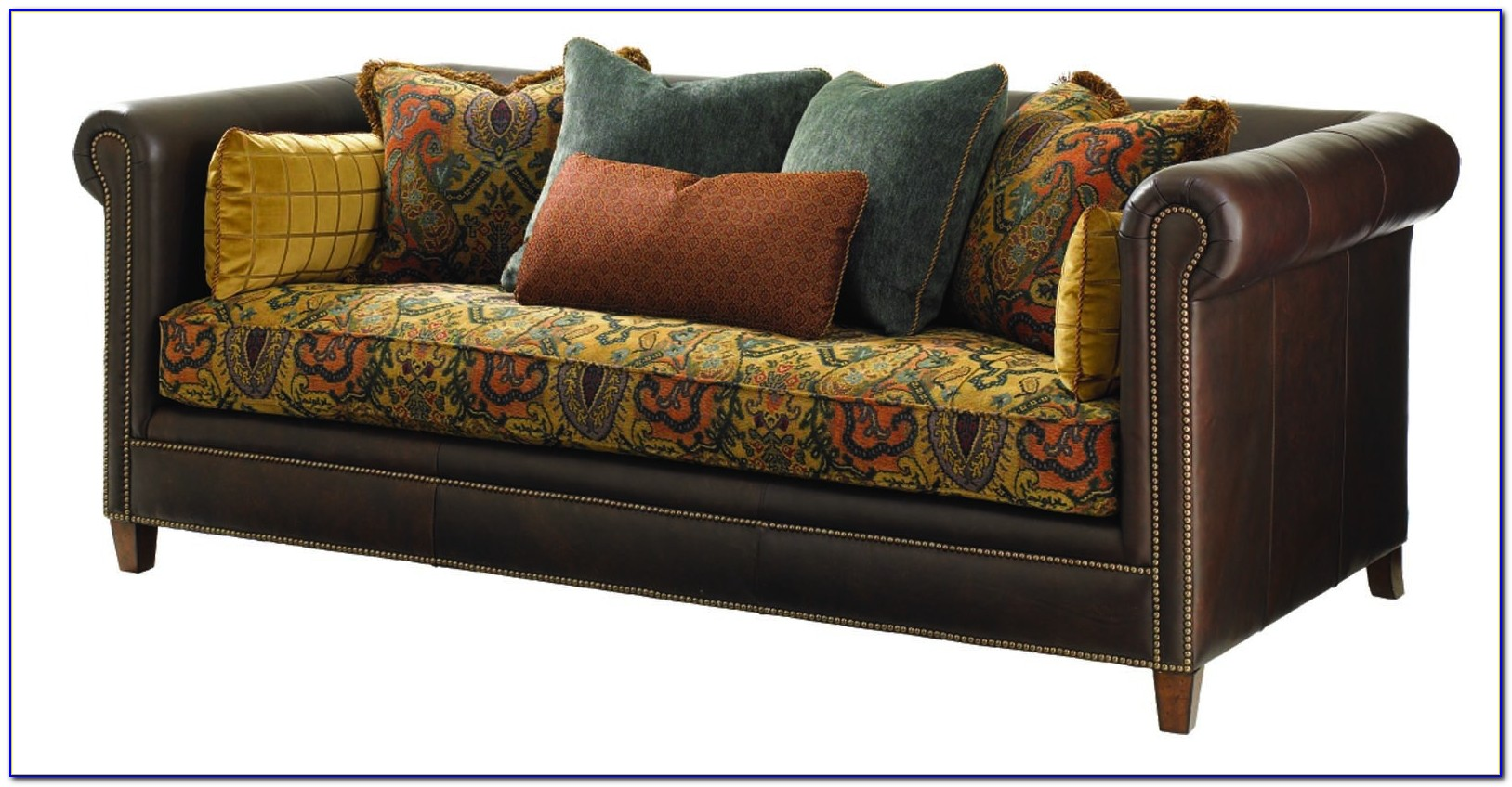 Leather And Fabric Sofa Combinations