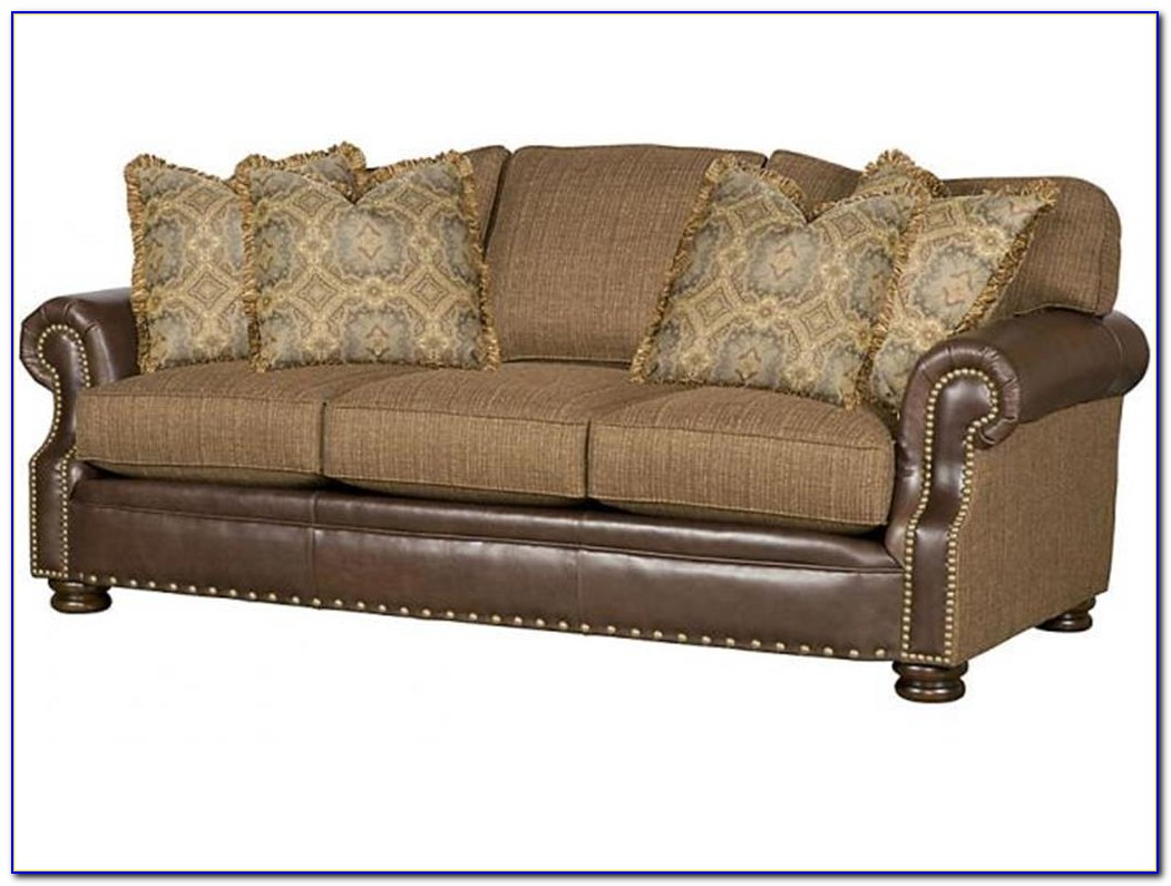 Leather And Fabric Sofa Mix