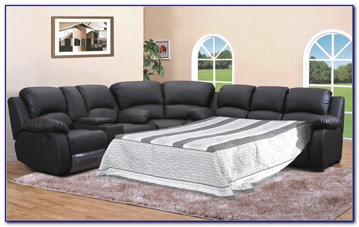 Leather Sectional Sleeper Sofa Bed