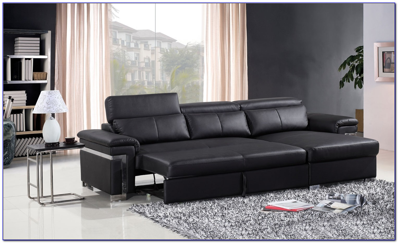 Leather Sectional Sofa Bed With Chaise