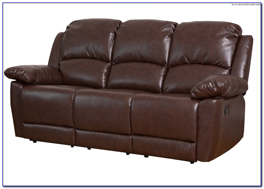 Leather Sofa Recliner With Console