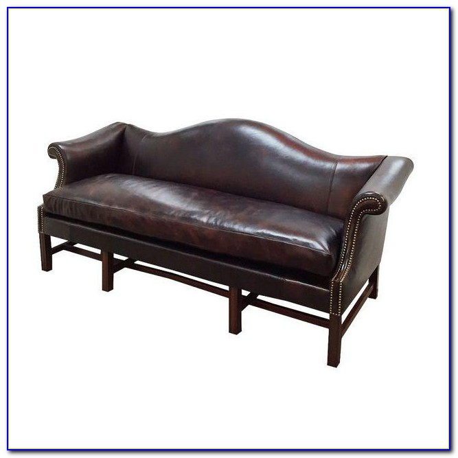 Leather Sofa With Nailhead Trim