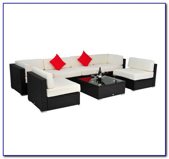 Luxxella Outdoor Patio Wicker Sofa Sectional Furniture Bella