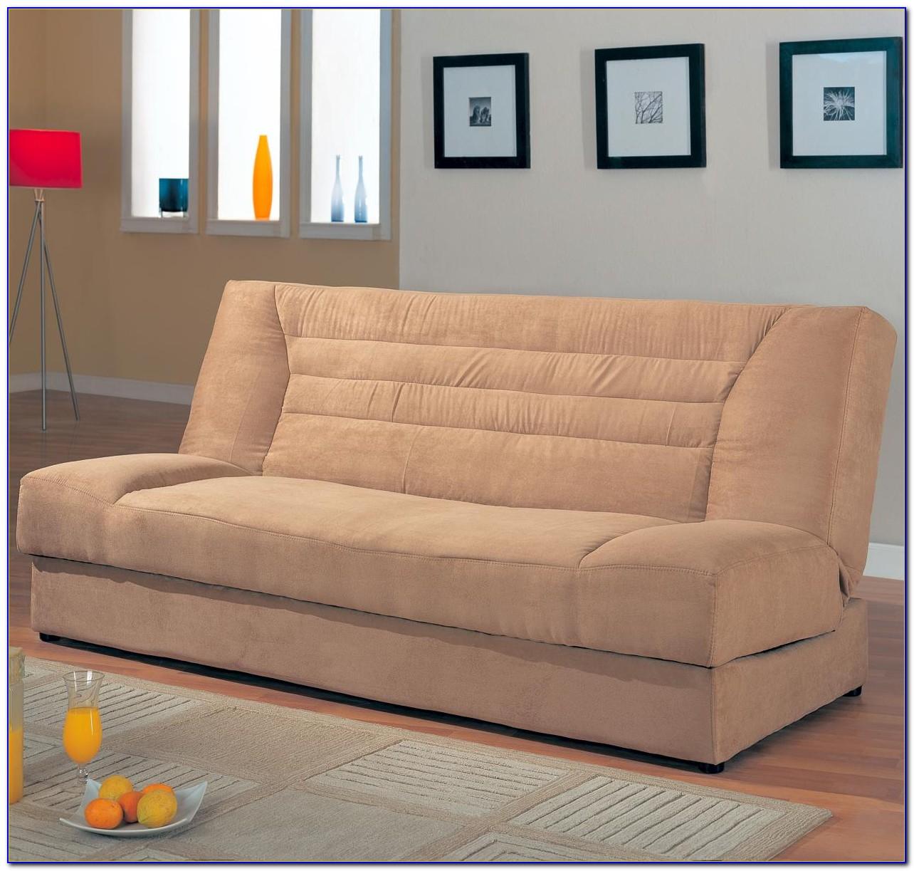 Meridian Microfiber Convertible Sofa With Storage
