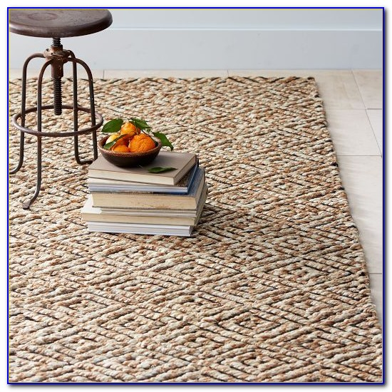 Metallic Diamond Jute Rug