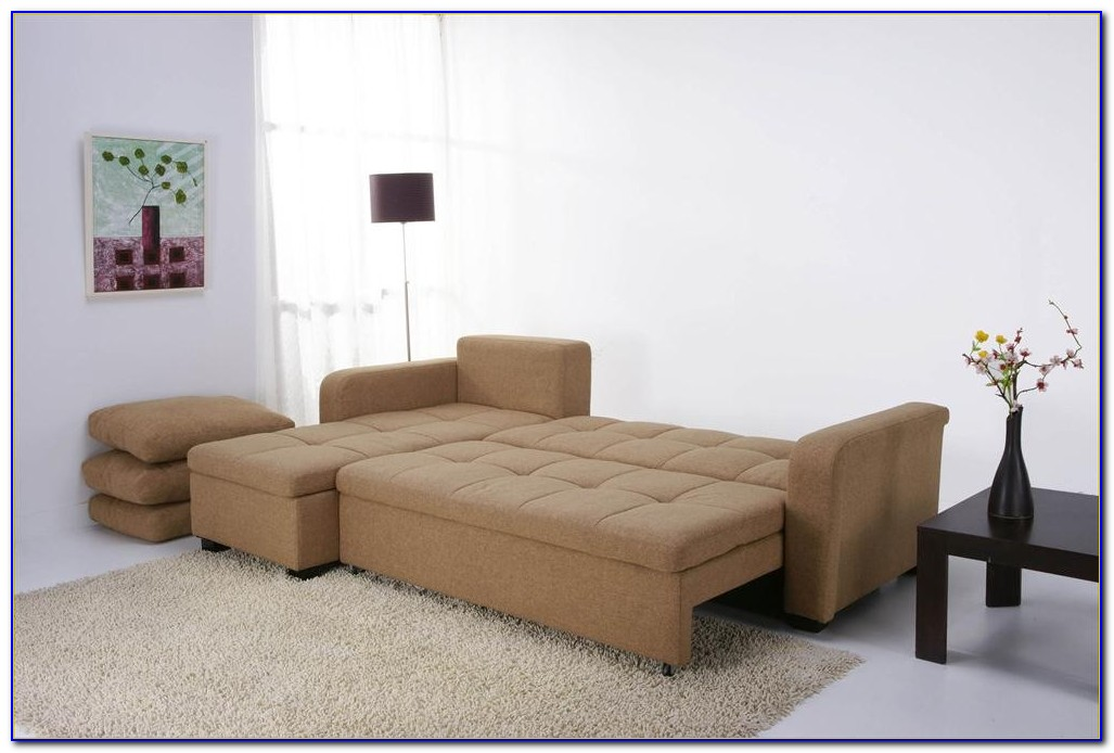 Microfiber Convertible Sectional Sofa Bed