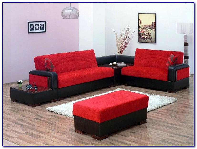 Microfiber Sectional Sleeper Sofa Bed