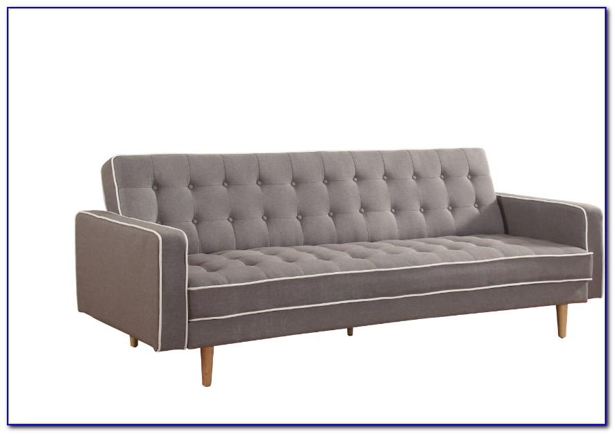 Mid Century Leather Sleeper Sofa