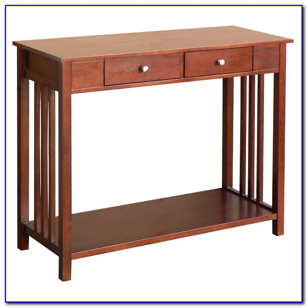 Mission Style Sofa Table Cherry