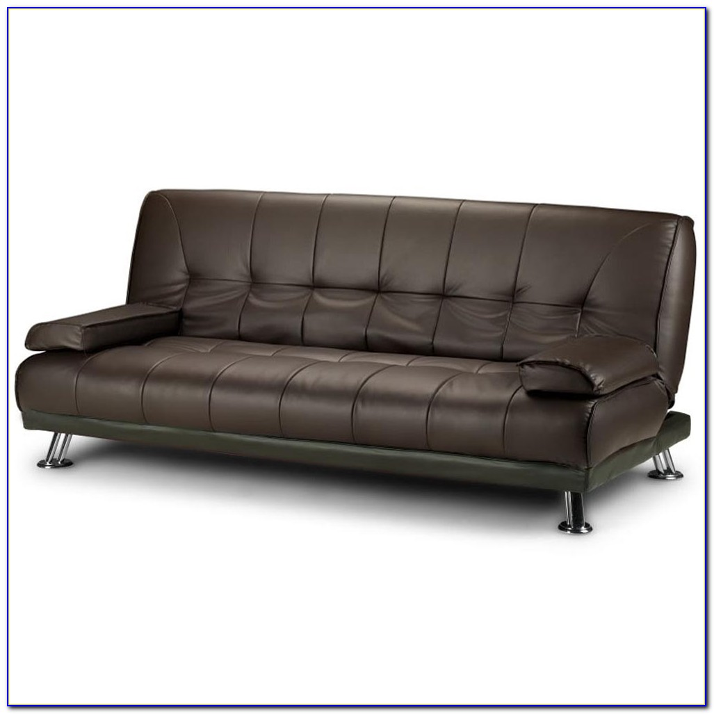Modern Leather Futon Sofa Bed