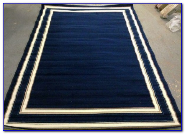 Navy Blue Area Rug 5x8