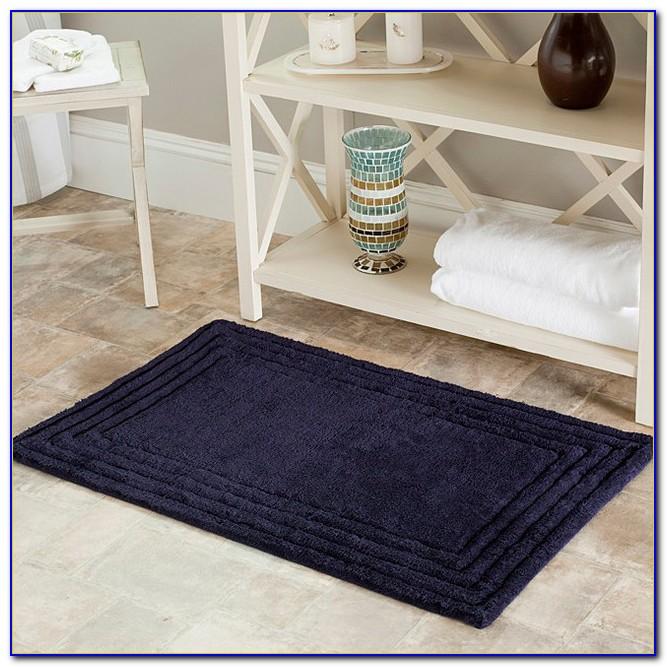 Navy Blue Bath Rugs Sets