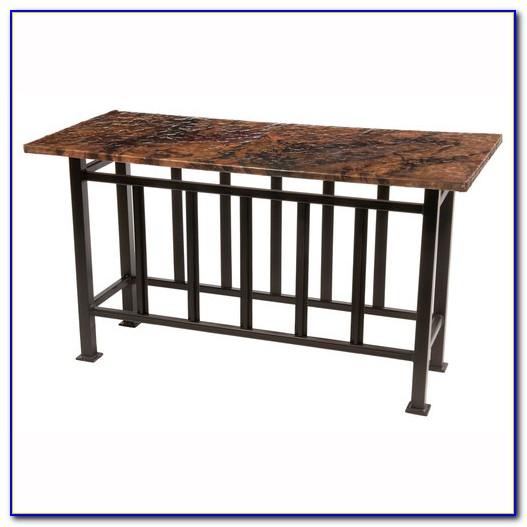 Outdoor Wrought Iron Sofa Table