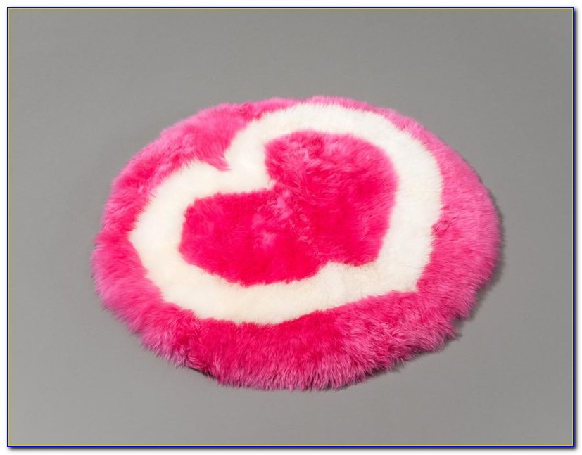 Pale Pink Sheepskin Rug