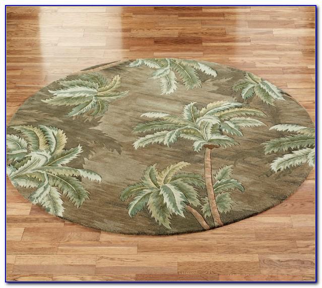 Palm Tree Round Area Rugs
