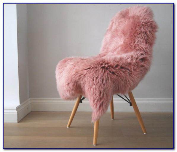 Pink Faux Sheepskin Rug