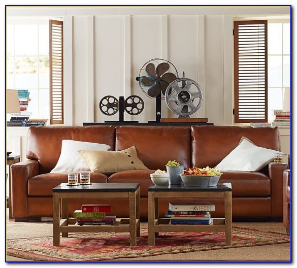 Pottery Barn Leather Sofa Look Alike