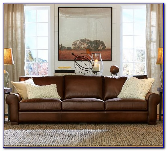 Pottery Barn Leather Sofa Set