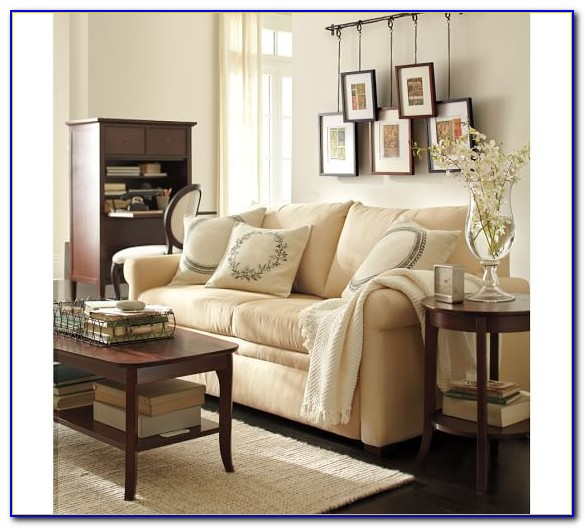 Pottery Barn Sleeper Sofa Leather