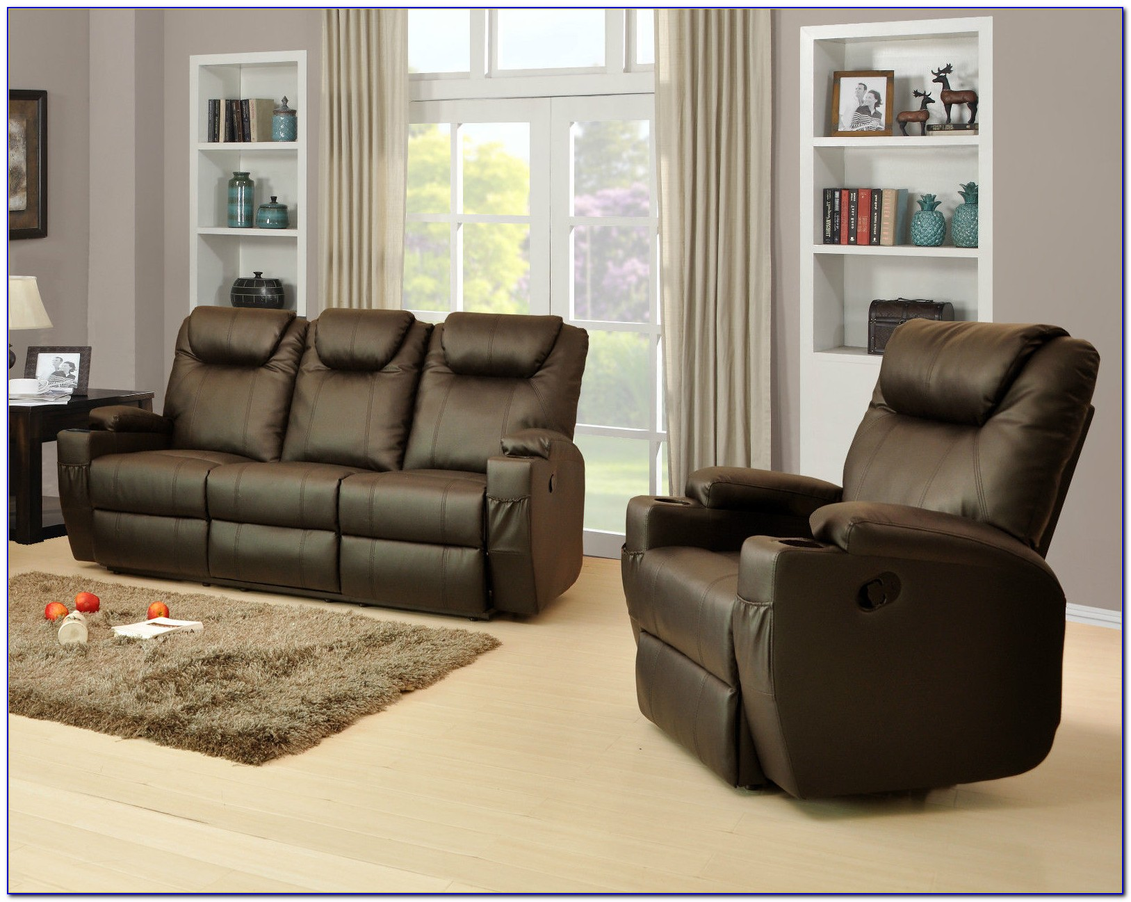 Power Reclining Leather Sofa Set
