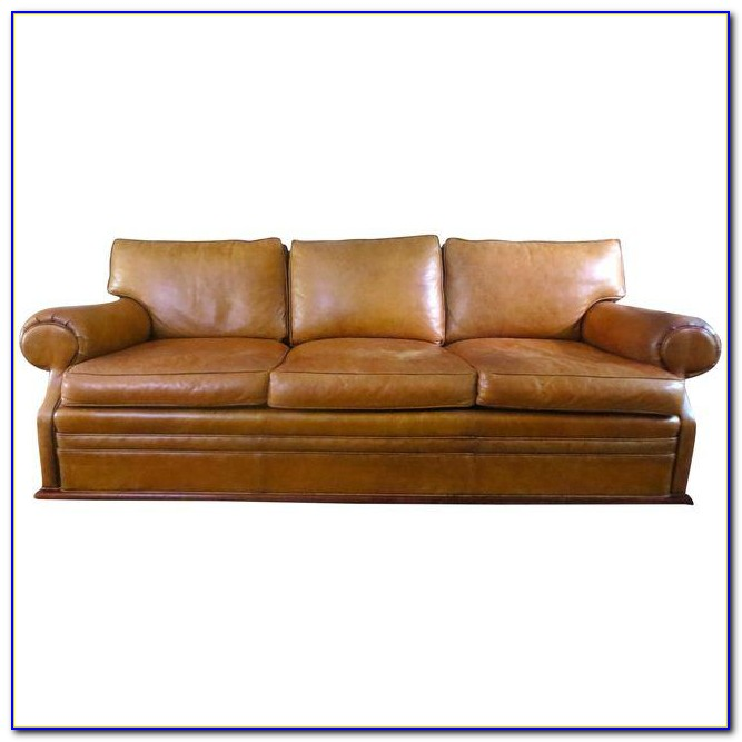 Ralph Lauren Distressed Leather Sofa