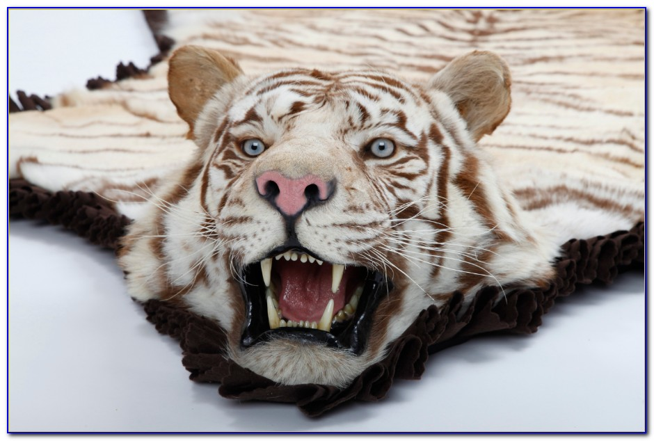 Real White Tiger Rug