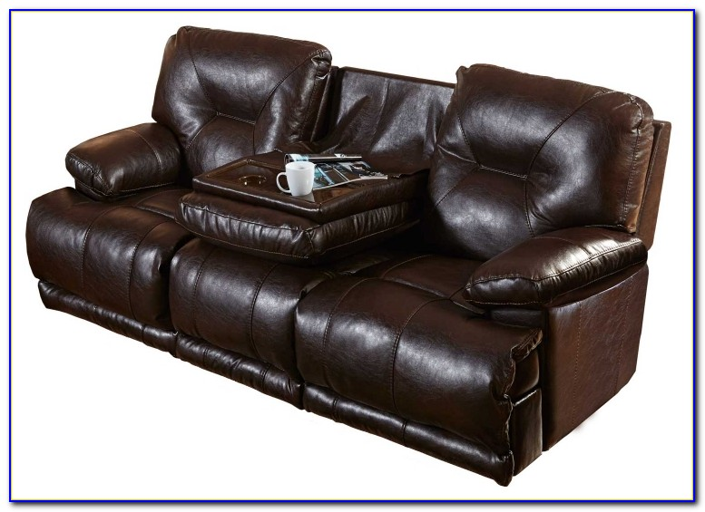 Reclining Power Sofa With Drop Down Table And Power Headrest