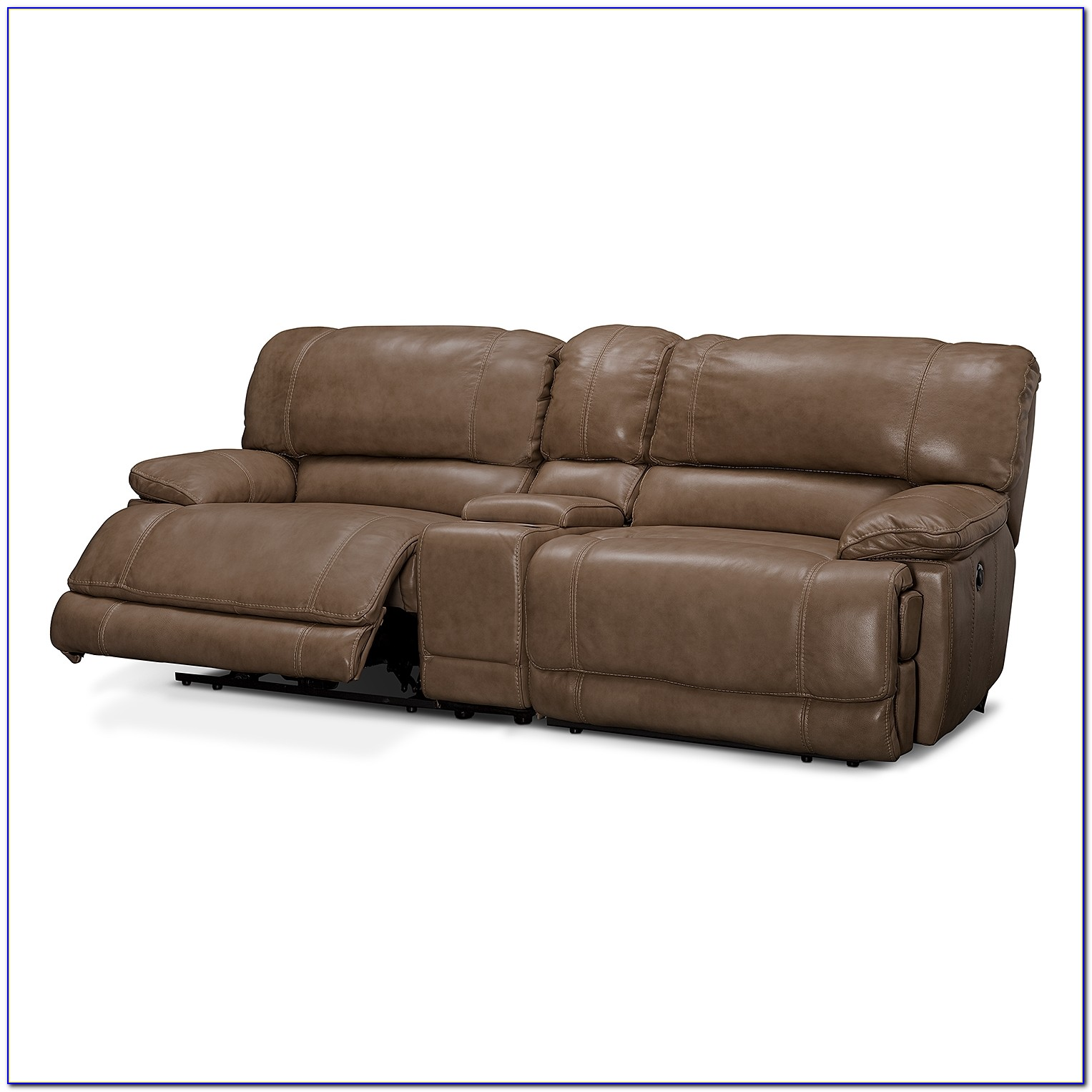 Reclining Sofa With Console And Massage