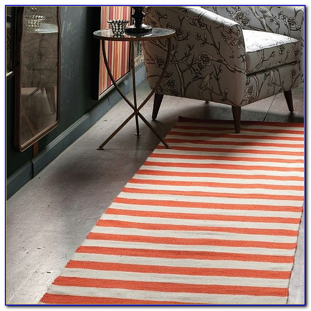 Red And White Striped Rug Runner