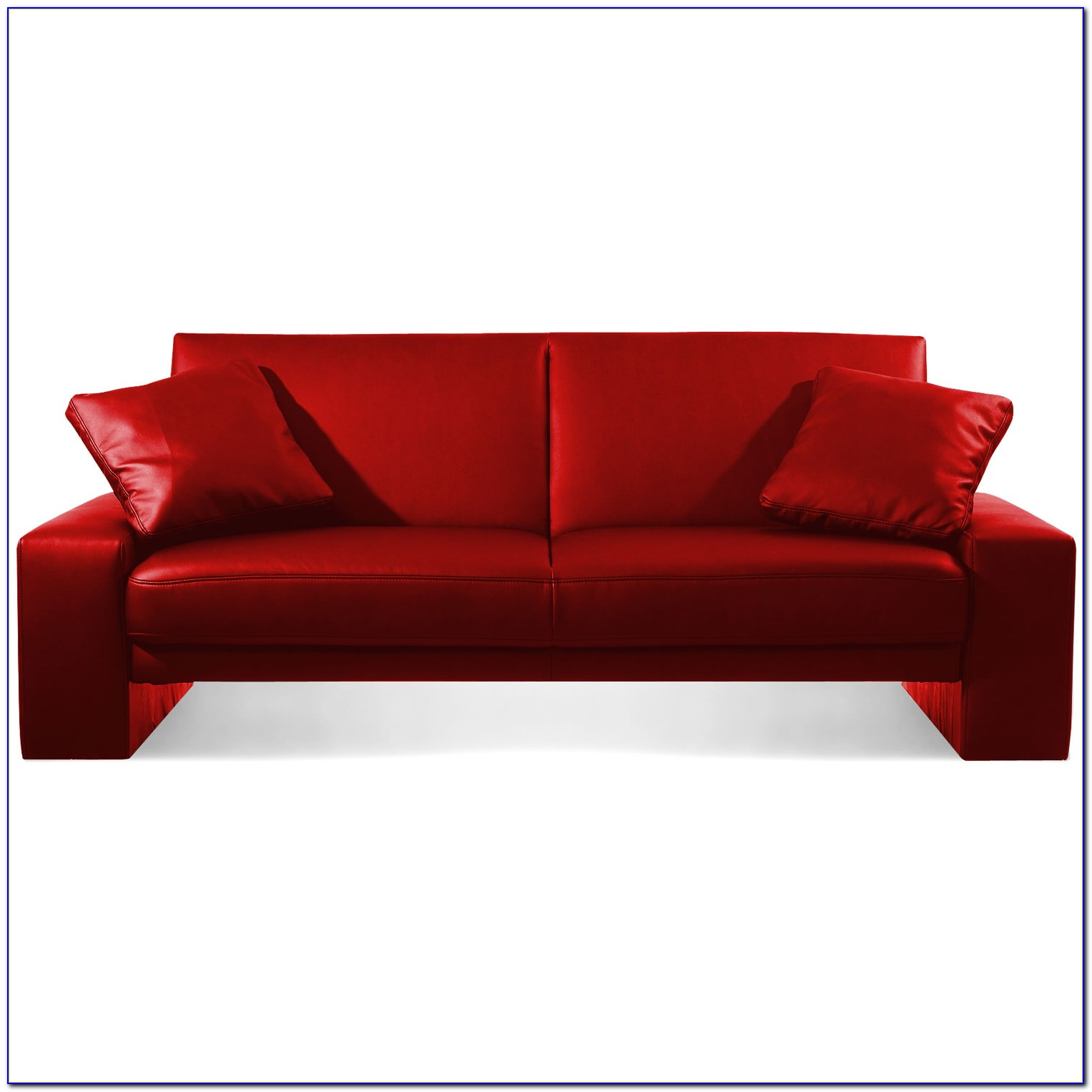 Red Faux Leather Sleeper Sofa