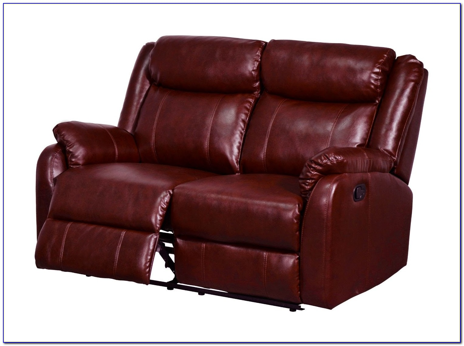 Red Leather Sectional Reclining Sofa