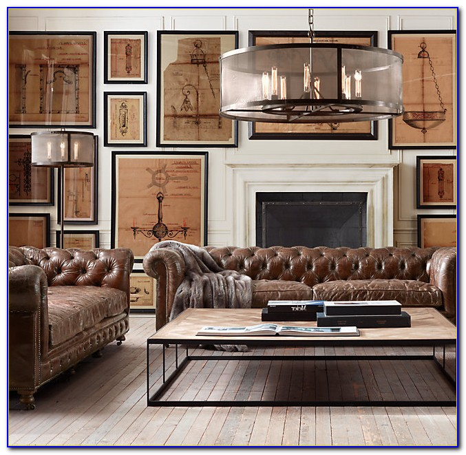 Restoration Hardware Leather Sofa Alternative