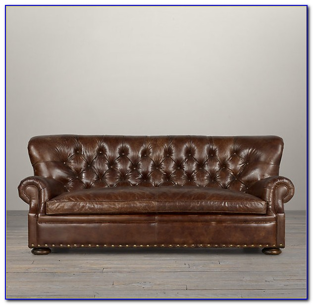 Restoration Hardware Leather Sofa Knockoff