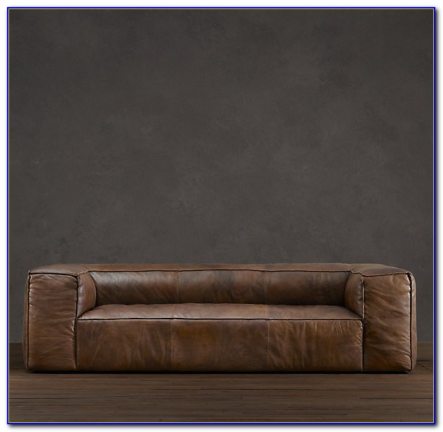 Restoration Hardware Leather Sofa Look Alike