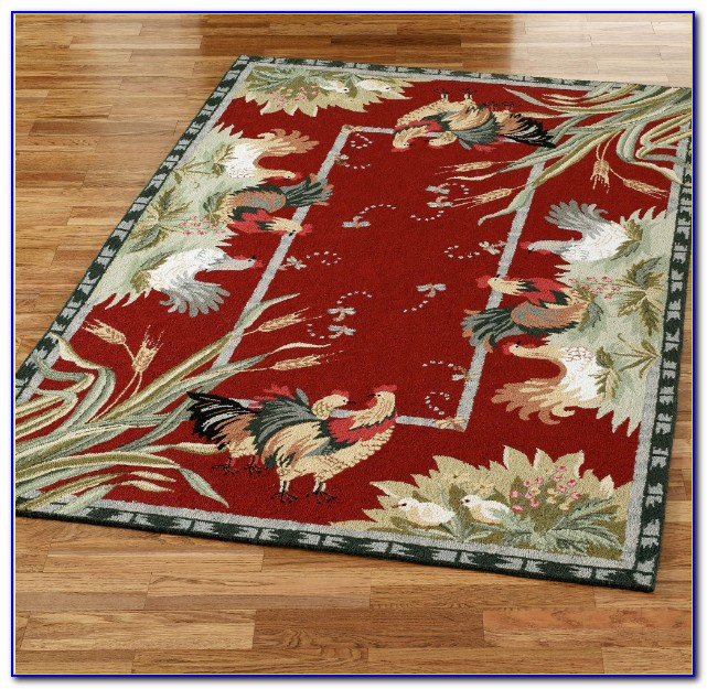 Rooster Themed Area Rugs