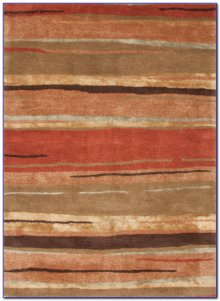 Rust Colored Throw Rugs