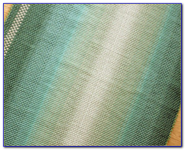 Seafoam Green And Coral Rug