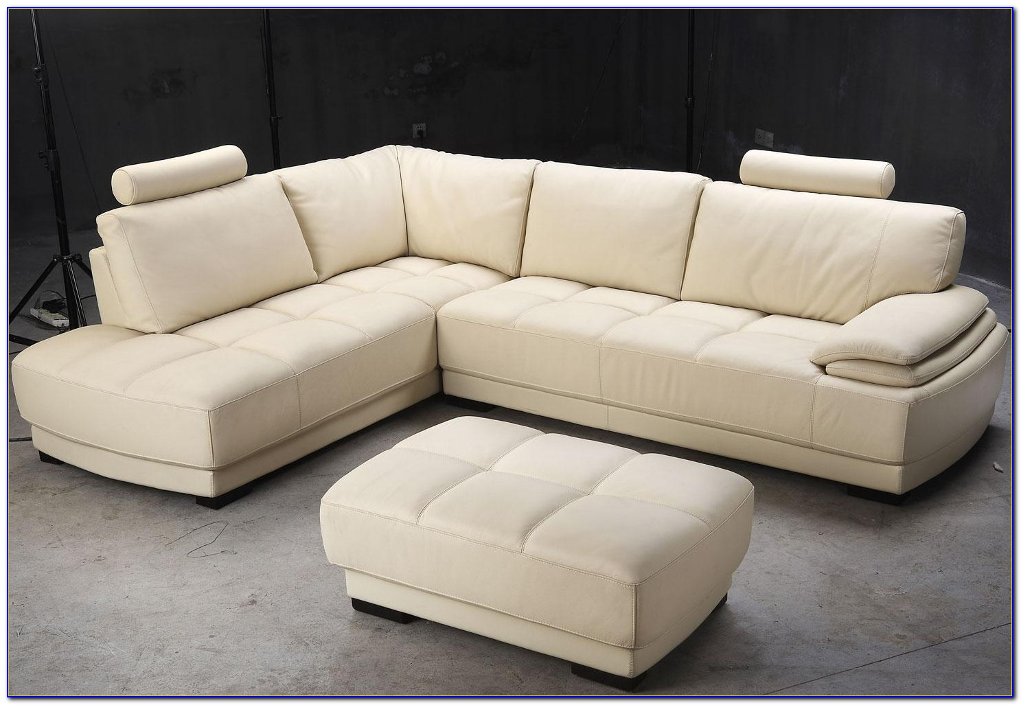 Sectional Sofa With Ottoman Microfiber