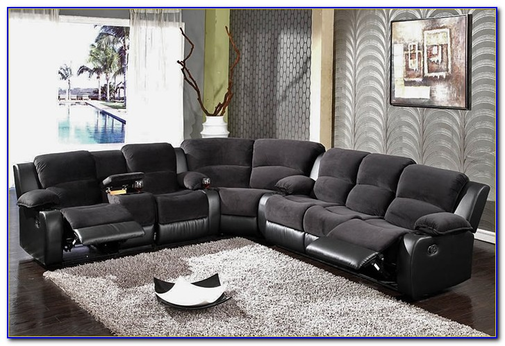 Sectional Sofa With Recliner Microfiber