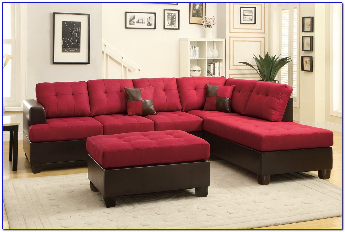 Sectional Sofa With Storage Ottoman